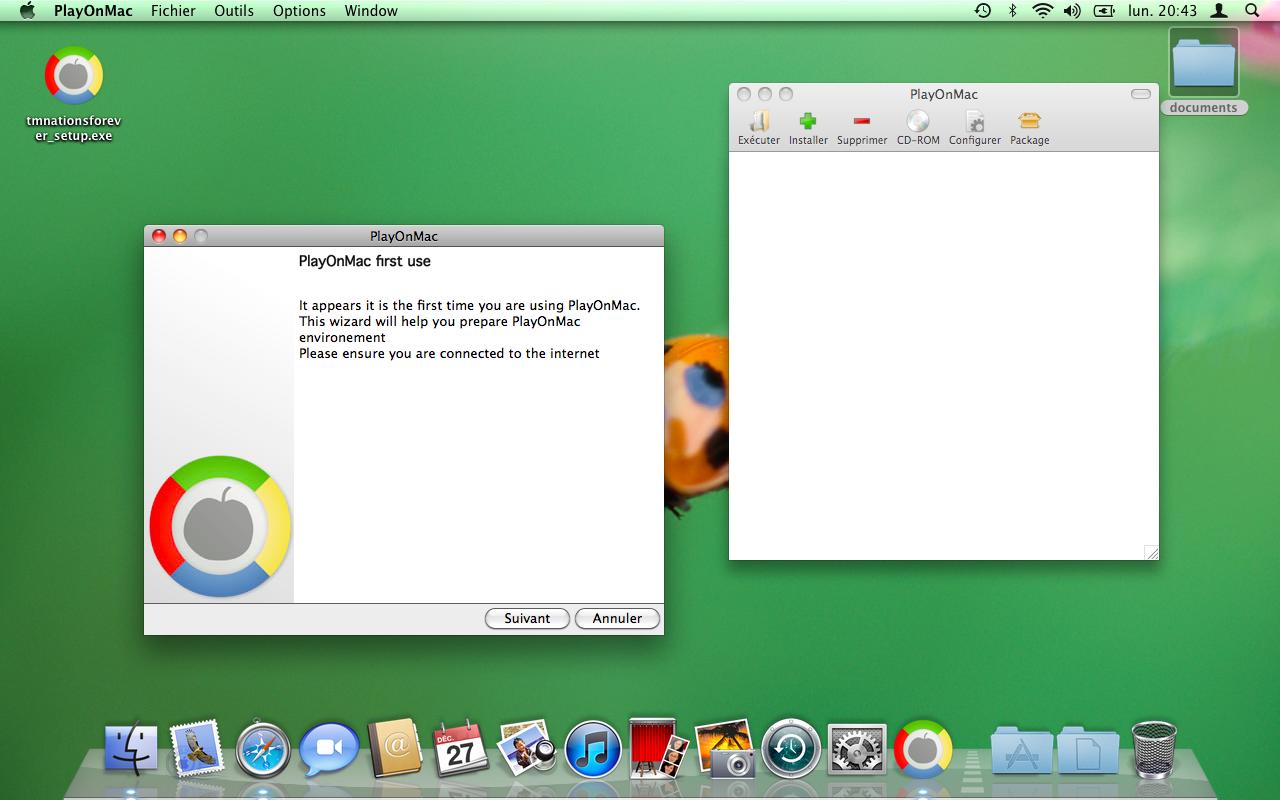 Tuto installation de trackmania nation forever sous mac for Agrandir fenetre mac