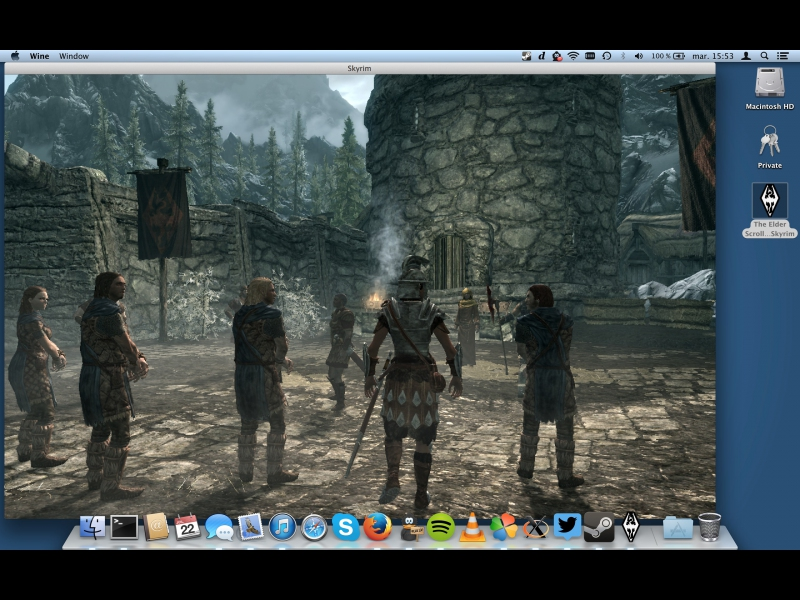 Skyrim is now supported by PlayOnMac - PlayOnLinux - Run