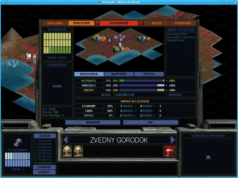 Good Old Games - Sid Meier's Alpha Centauri - PlayOnLinux